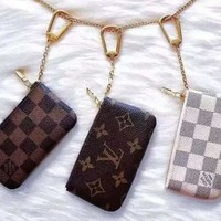 LV Fashion Women Men Louis Vuitton Monogram Canvas Key Pouch