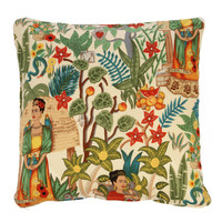 Frida Kahlo Garden Cushion Cover - Small - Matt Blatt