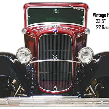 Ford Vintage Front End Laser Cut Out Wall Art 16.5″x23.5″ Metal