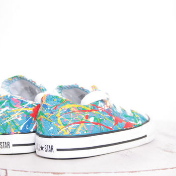 Toddler Splatter Painted Sneakers Size 3.5-10, Painting Only, You Ship Us Your Shoes, Custom Made