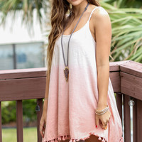 Sundance Blush Boho Two Tone Dress