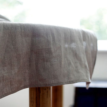 Natural linen table runner - gray tables linens - dinning table decor - Mothers day gift - wedding cloth table runner - 18x72