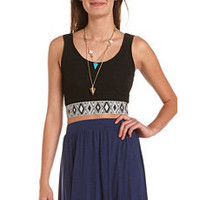 Embroidered Hem Crop Top: Charlotte Russe