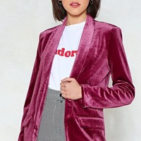 Get a Load of This Velvet Blazer