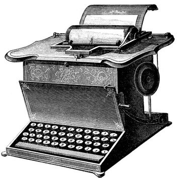 antique typewriter machine clipart png clip art Digital image download printable art graphics office home industry inventions