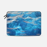 "Blue water Macbook Air 11"" sleeve by littlesilversparks 