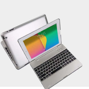 Ultra Thin Wireless Bluetooth Keyboard Dock Stand Cover Case For Apple iPad 2 3 4 Tablet Built-in 4000mAh Lithium Battery