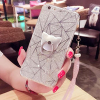 Twinkle and Ring Case Cover for iPhone 7 7 Plus & iPhone 5s se + iPhone 6 6s Plus + Gift Box-63