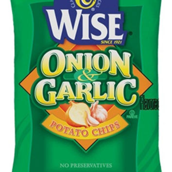 Wise Onion & Garlic Potato Chips 6.75 oz Bags - Pack of 6