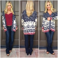 To The Left Knit Cardigan Sweater