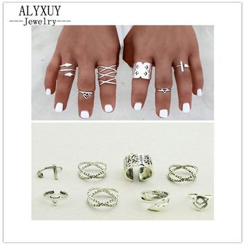 mix design finger ring set 1set=8pieces nice gift R4073