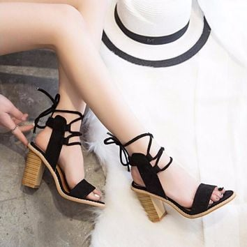 Strappy Chunky Heels