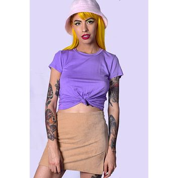 Yazzie Knotted Tee - Lilac