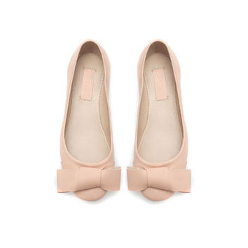 LEATHER BALLERINA FLATS - Shoes - Girl - Kids - ZARA United States