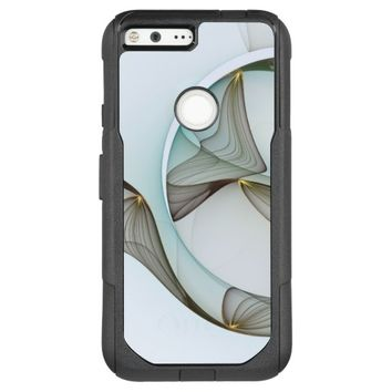 Abstract Modern Turquoise Brown Gold Elegance OtterBox Commuter Google Pixel XL Case