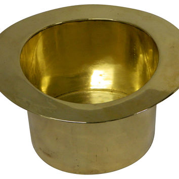 French Brass Top Hat Champagne Bucket