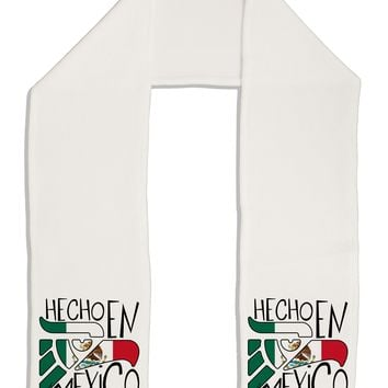 "Hecho en Mexico Design - Mexican Flag Adult Fleece 64"" Scarf by TooLoud"