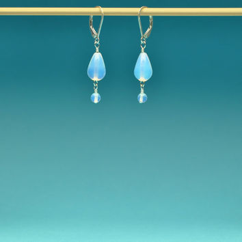 Luminescent Opalite Teardrop Elegant and Lightweight Earrings