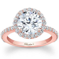 Barkev's Classic Large Round Halo Diamond Engagement Ring