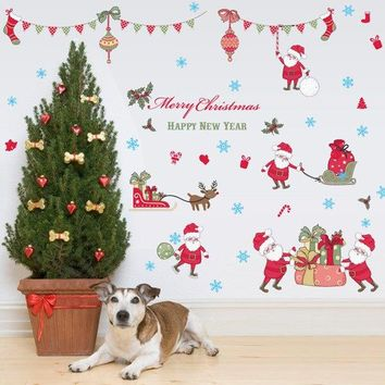 Removable Merry Christmas Wall Stickers Room Decor