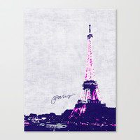 paris Stretched Canvas by holli zollinger