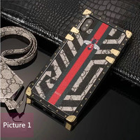 GUCCI Fashion Print iPhone Phone Cover Case For iPhone X iphone6/6s/7/8/plus