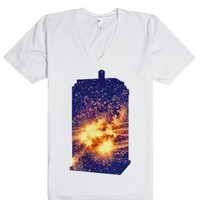 time and relative dimension in space-Unisex White T-Shirt