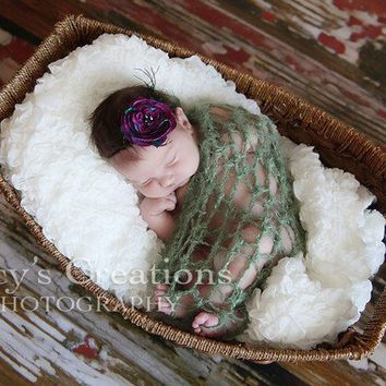 Baby Blanket Lacy Wrap Baby Swaddler Crochet Baby by Monarchdancer