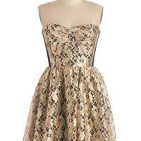 ModCloth Short Length Strapless A-line Dash of Extravagance Dress