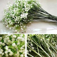 1pc Home Decoration Fashion Artificial Flower Baby's Breath Gypsophila Silk Flower Party Wedding Accessories Hot Gifts (Size: One Size, Color: White) [7983233735]