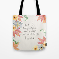 Fall Tote Bag by sylviacookphotography
