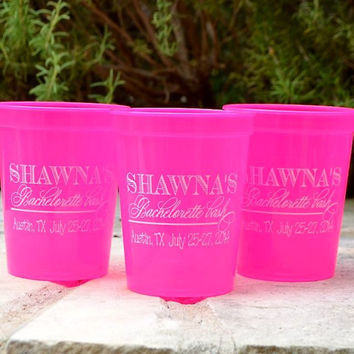 50 Custom Bachelorette Party Stadium Cups