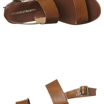 WINDSOR SMITH BREANNA LEATHER WOMENS SANDAL - TAN