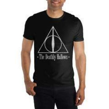 Harry Potter The Deathly Hallows Logo Women's Black T-Shirt