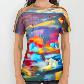 My Village | Colorful Small Mountainy Village All Over Print Shirt by Azima