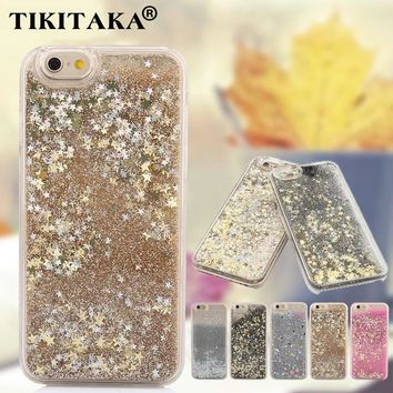 Style201 Dirt-Resistant Luxury Stars Flowing Water Liquid Case For Iphone 5S 0904-58