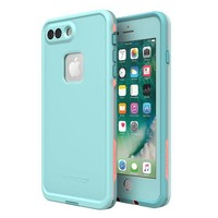 ONETOW Lifeproof 77-56983 FR¨¥ SERIES Waterproof Case for iPhone 8 Plus & 7 Plus (ONLY) - Retail Packaging - WIPEOUT (BLUE TINT/FUSION CORAL/MANDALAY BAY)