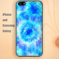 lighting blue watercolor colorful iphone 6 6 plus iPhone 5 5S 5C case Samsung S3,S4,S5 case Ipod Silicone plastic Phone cover Waterproof