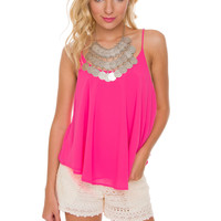 Nellie Top - Hot Pink