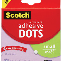 adhesive dots, small craft