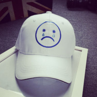 Cute Embroidered Crying Baseball Cap Hat