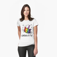 Unikitty Unicorn Cat T Shirt by bitsnbobs