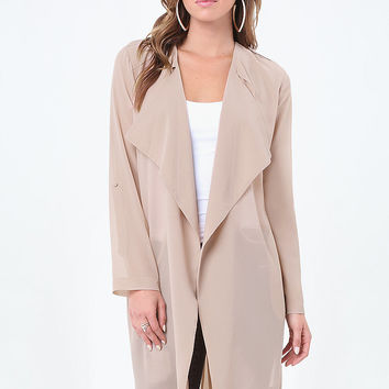 Open Front Trench Coat | bebe