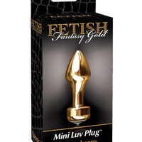 Fetish Fantasy Gold Mini Luv Plug - Gold