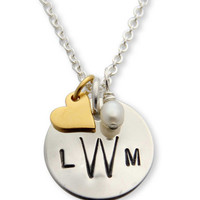 jenny present® | Hand Stamped Monogramed Personalized Necklace