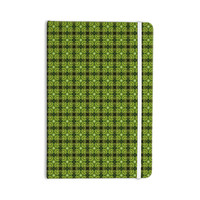 "Matthias Hennig ""Floral Green"" Floral Geometric Everything Notebook"