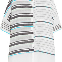 LemLem - Abara striped cotton-blend gauze top