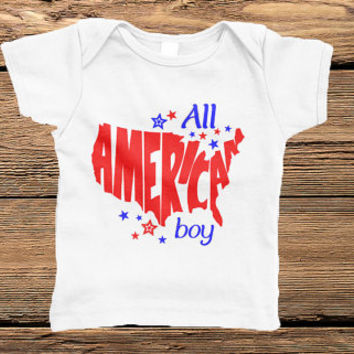 All American Boy Appliqué - Infant & Toddler Tee - 4th of July - Fireworks - summer tee - 6M, 12M, 18M, 24M, 2T, 4T, 5/6, 7