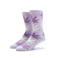 HUF - PLANTLIFE CREW SOCKS // HEATHER LAVENDER / PASTEL YELLOW