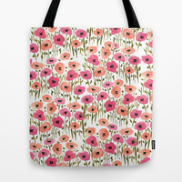 Poppies Tote Bag by Lucy Helena